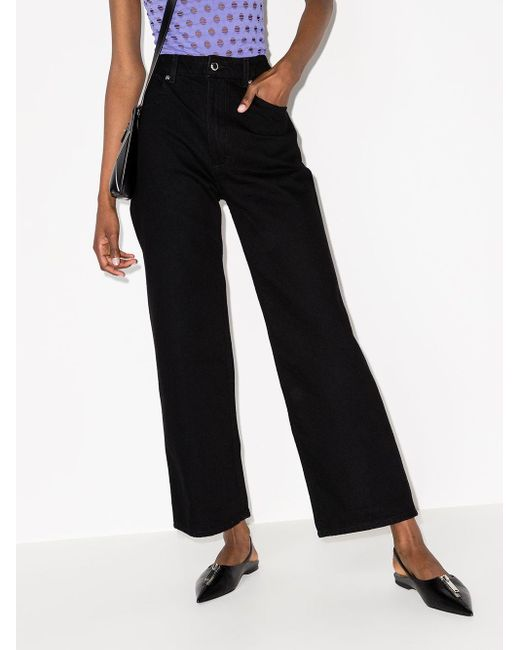 Eckhaus Latta ブラック Wide Leg ジーンズ Black