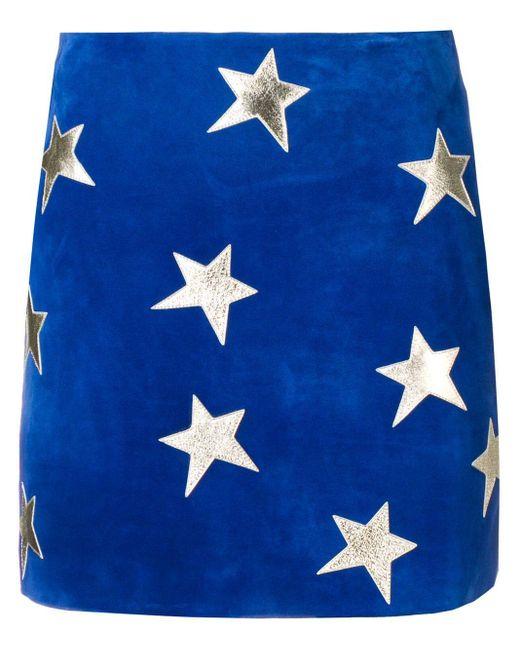 Saint Laurent スターミニスカート Blue