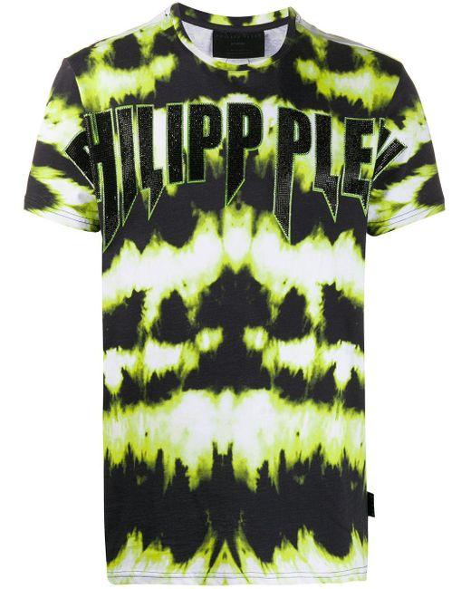 Camiseta con estampado del logo Philipp Plein de hombre de color Black