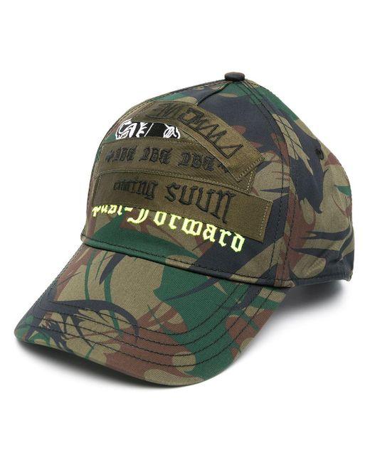 Cappello da baseball con stampa camouflage di DIESEL in Green da Uomo
