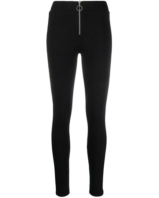 Thom Krom Black Zip-front High-rise leggings