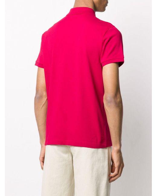 メンズ Moncler ロゴ ポロシャツ Pink