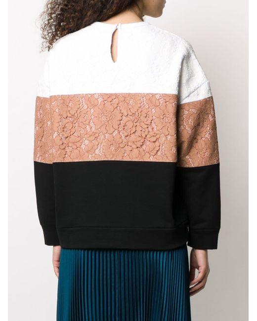 N°21 カラーブロック スウェットシャツ Multicolor