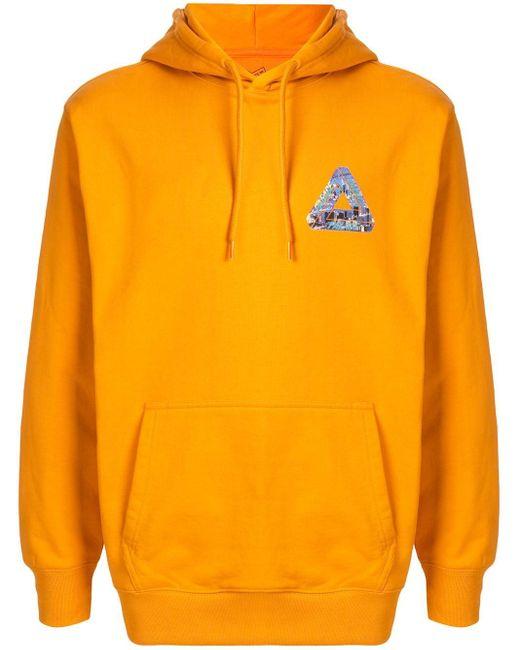 メンズ Palace ロゴ パーカー Orange