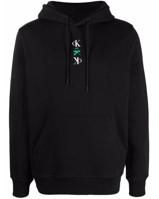 Calvin Klein Hoodie mit Logo-Print in Black für Herren