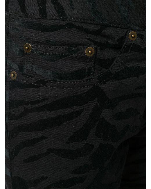 Джинсы Скинни С Зебровым Принтом Saint Laurent для него, цвет: Black