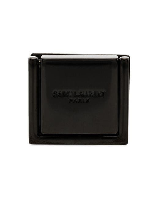 Saint Laurent Black Debossed-logo Phone Ring