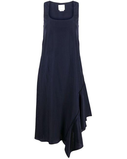 Vestido acampanado con cuello redondo Ballantyne de color Blue