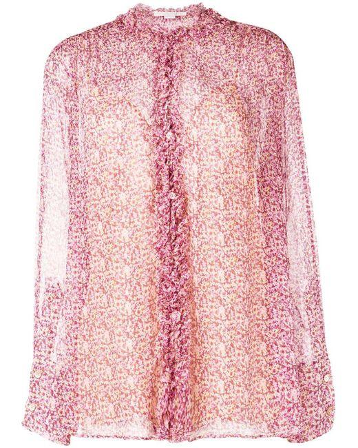 Stella McCartney ラッフル シャツ Pink