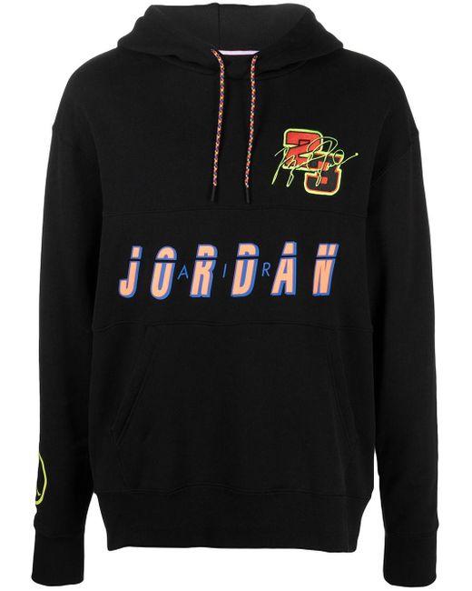 Felpa con cappuccio Jordan Sport DNA di Nike in Black da Uomo