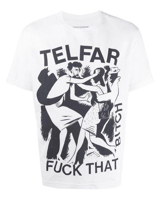 メンズ Telfar グラフィック Tシャツ White