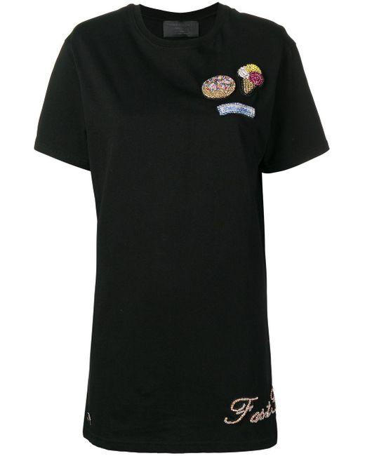 Philipp Plein Black Crystal Embellished T-shirt