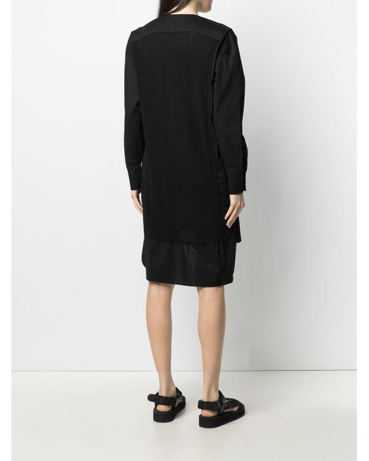 Societe Anonyme Black Kleid mit V-Ausschnitt