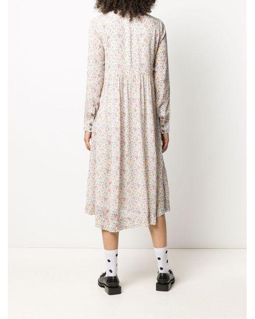 Ganni フローラル ドレス Natural