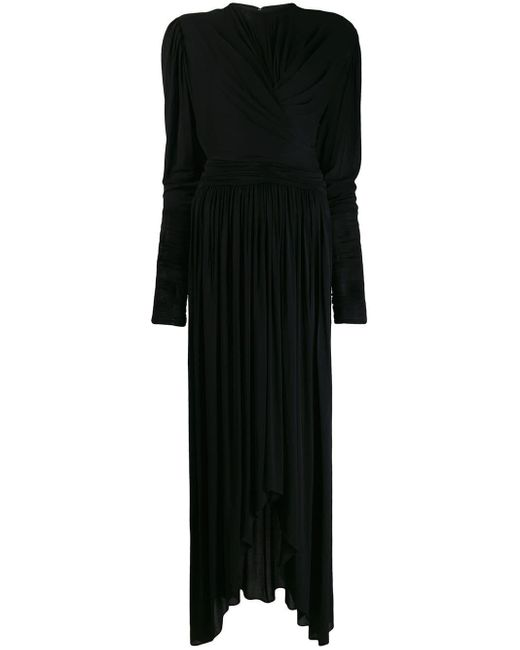Isabel Marant ギャザー ドレス Black
