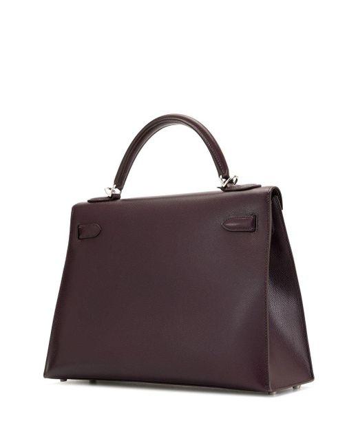 Hermès 2002 プレオウンド ケリー 32 セリエ ハンドバッグ Black