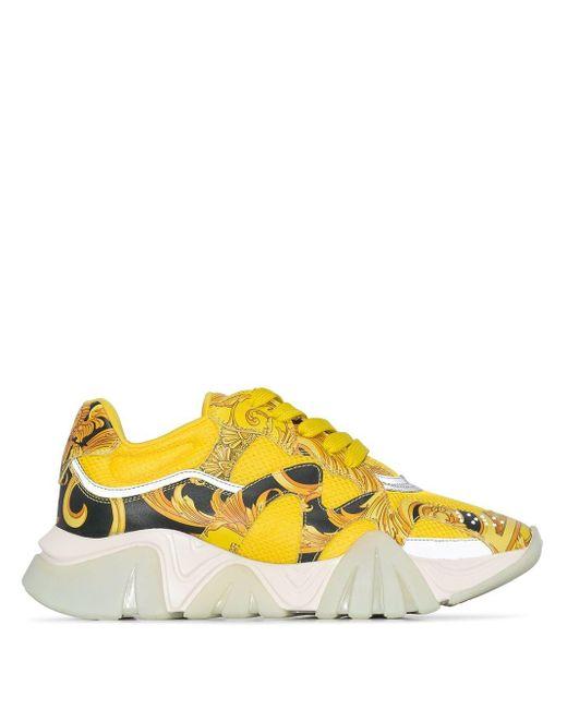 Versace Yellow Squalo Sneakers