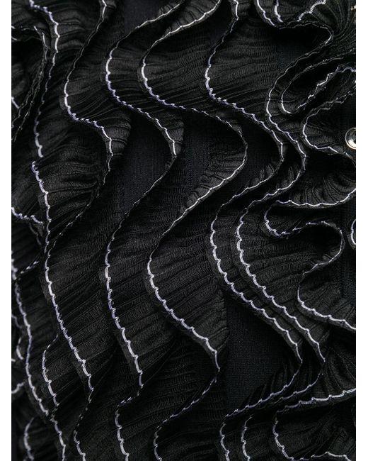 Плиссированный Жакет Alexander McQueen, цвет: Black