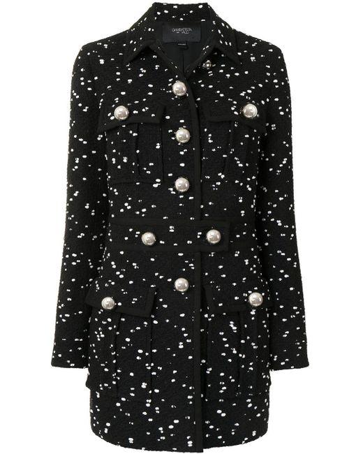 Manteau texturé Giambattista Valli en coloris Black