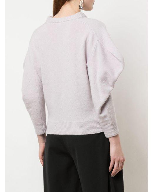 Proenza Schouler ドレープスリーブ セーター Purple