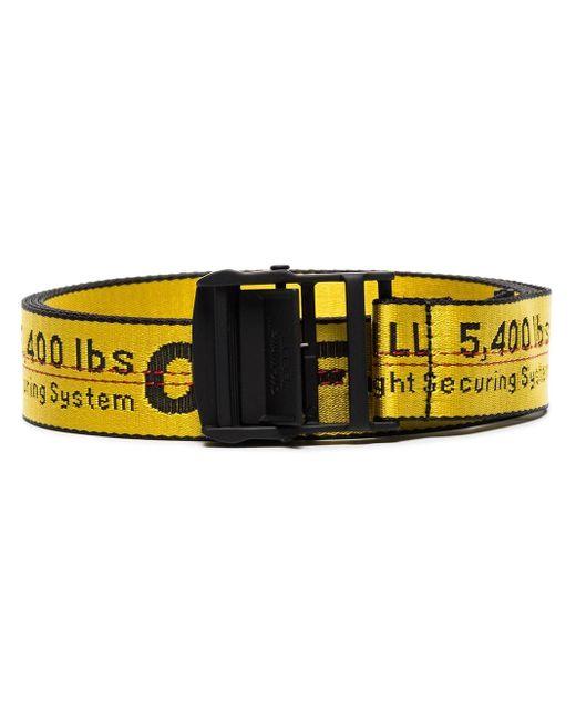 Off-White c/o Virgil Abloh Yellow Industrial Logo Belt