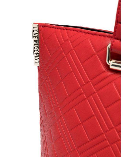 Сумка-тоут С Логотипом Love Moschino, цвет: Red