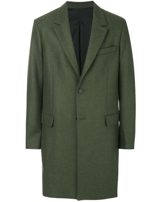 AMI Green Two Button Coat for men