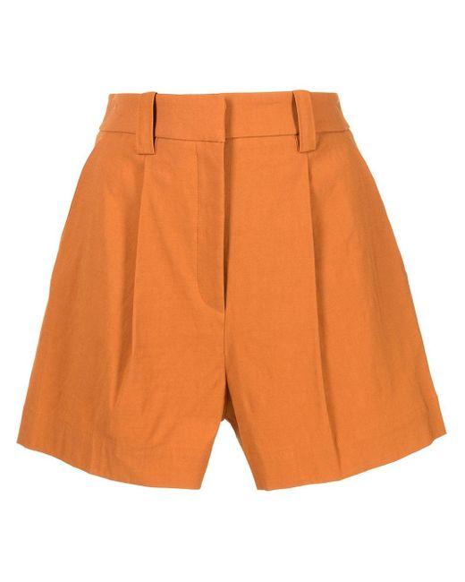 Shorts sartoriali a vita alta di A.L.C. in Orange