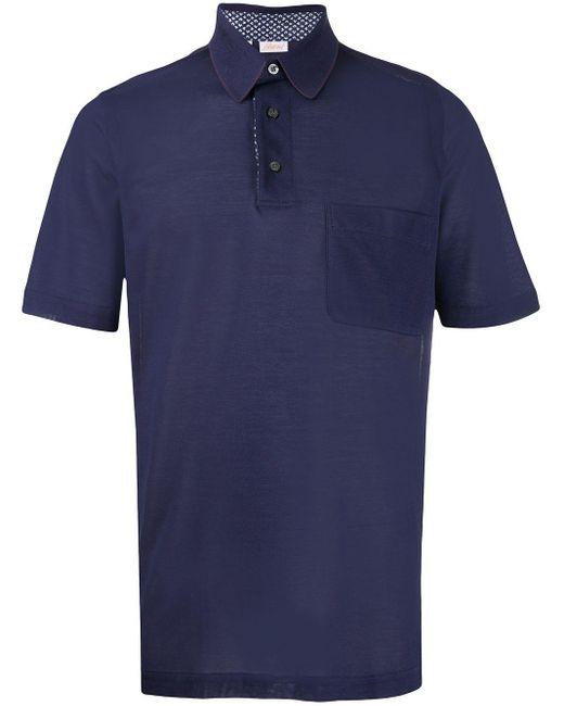メンズ Brioni ショートスリーブ ポロシャツ Blue