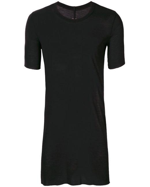 メンズ Rick Owens ロングライン Tシャツ Black