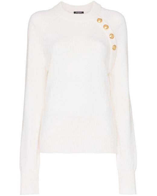 Balmain カシミア セーター White