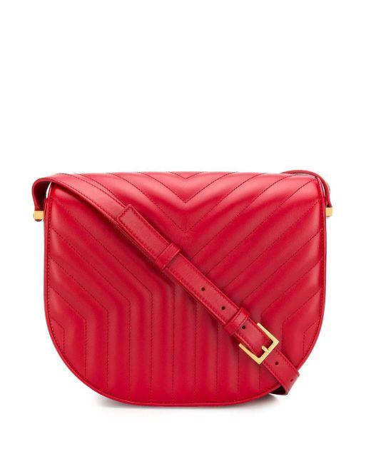 Saint Laurent Red 'Joan' Schultertasche