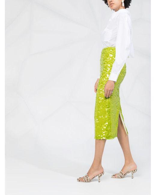 Блузка С Длинными Рукавами И Драпировкой Ganni, цвет: White