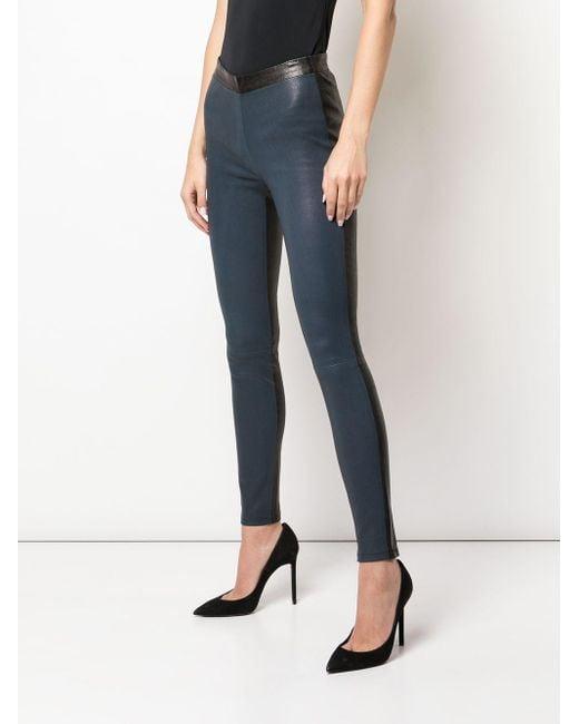 Legging bicolore à design texturé Alexis en coloris Black