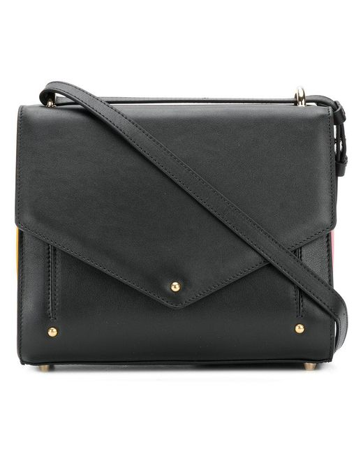 Sara Battaglia - Black Plisse Mini Crossbody Bag - Lyst