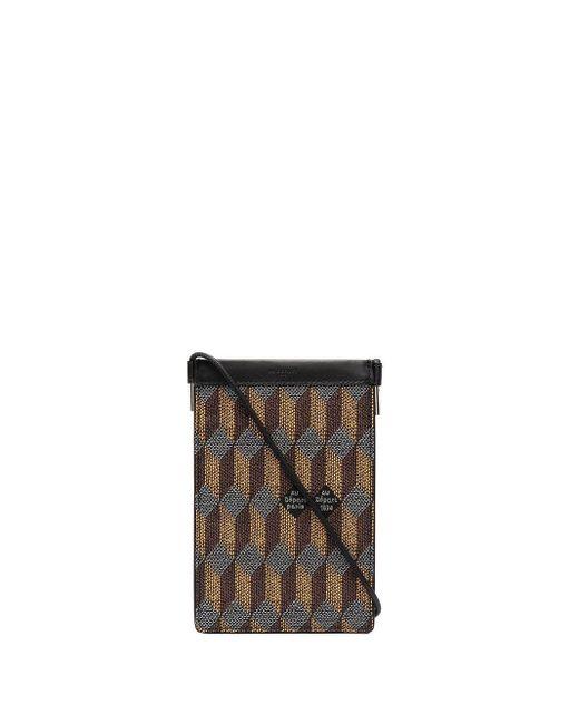 AU DEPART Black Geometric Pattern Document Bag