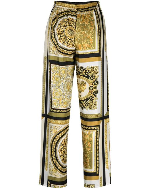 Пижамные Брюки С Принтом Baroque Versace, цвет: Yellow