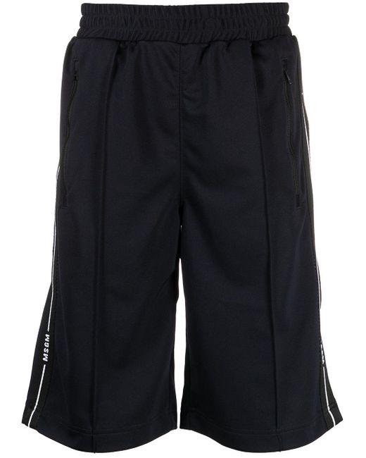 メンズ MSGM ロゴ トラックパンツ Black