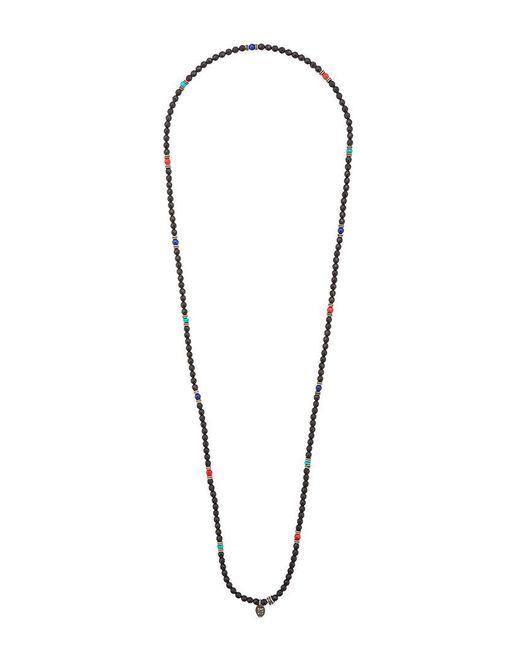 Roman Paul | Black Beaded Necklace for Men | Lyst