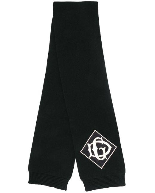 メンズ Dolce & Gabbana ロゴ ニットスカーフ Black