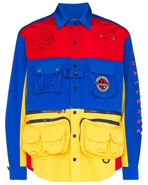 メンズ Polo Ralph Lauren ポケットディテール ジャケット Blue