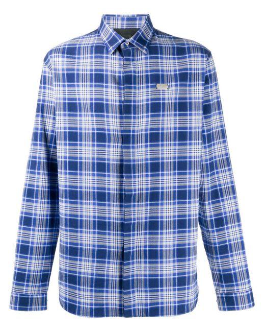 Рубашка С Длинными Рукавами И Логотипом Philipp Plein для него, цвет: Blue