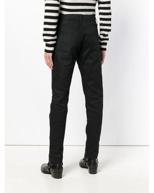 Классические Джинсы Узкого Кроя Saint Laurent для него, цвет: Black