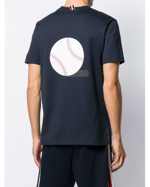 メンズ Thom Browne Icon プリント Tシャツ Blue