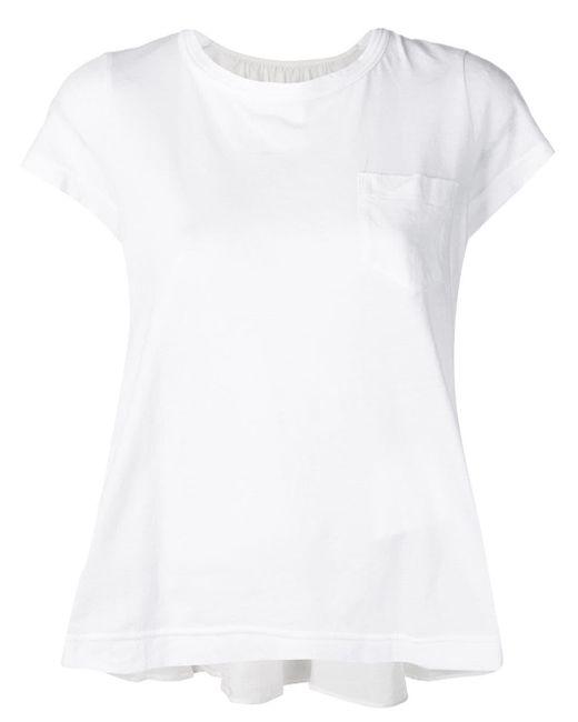 Sacai フィッシュテール Tシャツ White