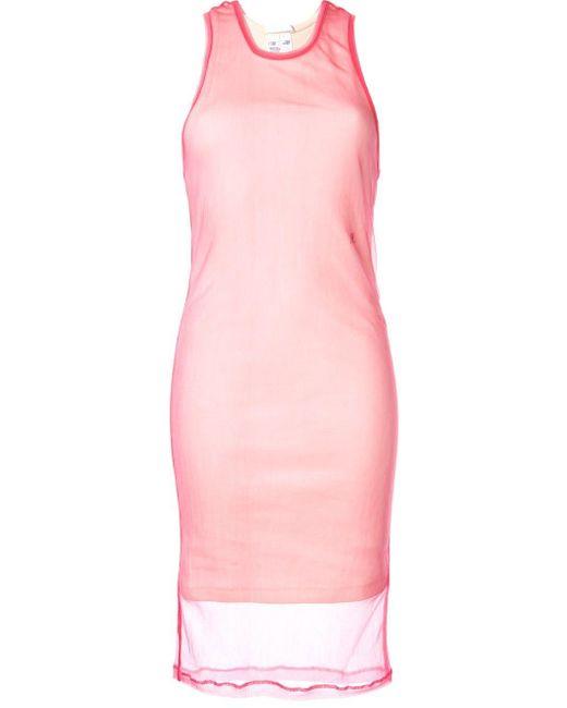 Helmut Lang レイヤード ドレス Pink