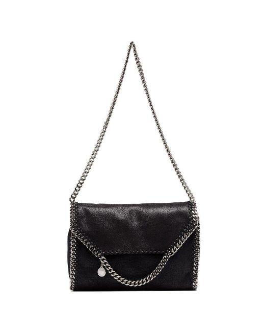 Stella McCartney Black Falabella Big Chain Trim Shoulder Bag