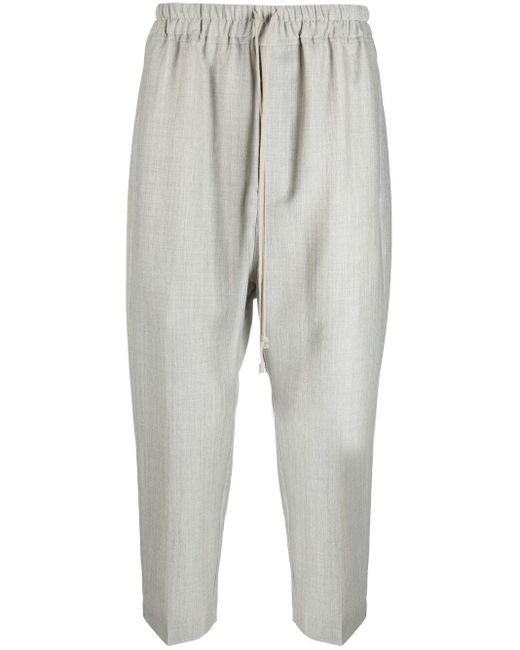 Pantaloni a cavallo basso di Rick Owens in Gray da Uomo