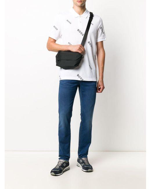 メンズ BOSS by Hugo Boss モノグラム ポロシャツ White