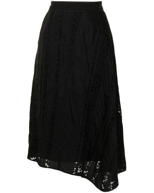 N°21 レースパネル スカート Black